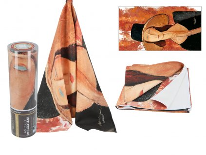 Ručník A. Modigliani, Woman in a hat v dárkové krabičce
