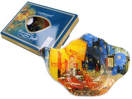 Podčajník V. van Gogh Terasa kavárny v noci v dárkové krabičce