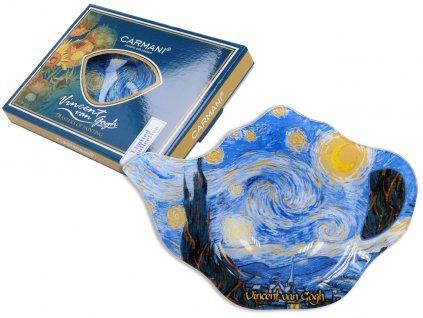 Podčajník V. van Gogh Hvězdná noc v dárkové krabičce