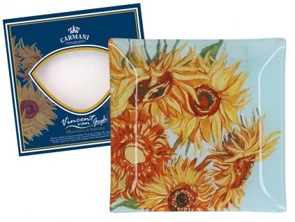Skleněný talíř V. van Gogh Slunečnice