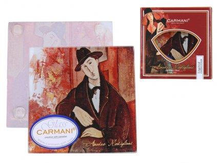 Skleněné prostírání pod skleničku A. Modigliani, Mario Varvogli