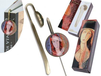 Záložka do knihy A. Modigliani Jeanne Hébuterne