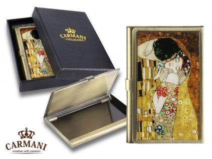 Pouzdro na vizitky G. Klimt Polibek
