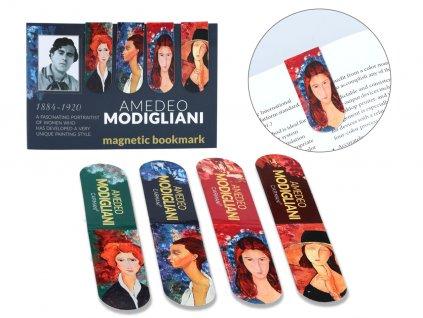 Sada 4 magnetických záložek A. Modigliani