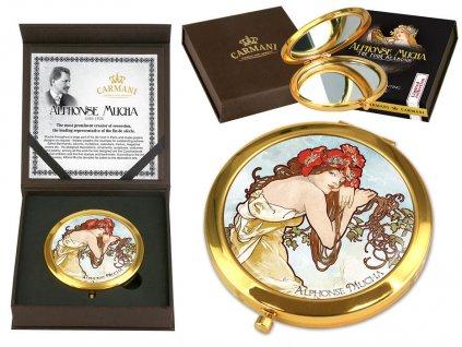 Kosmetické zrcátko Alfons Mucha