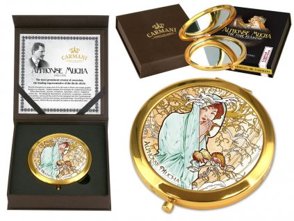 Kosmetické zrcátko Alfons Mucha zima