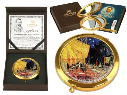 Kosmetické zrcátko Vincent van Gogh Terasa noční kavárny