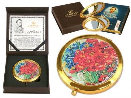 Carmani Kosmetické zrcátko Vincent van Gogh Vlčí mák