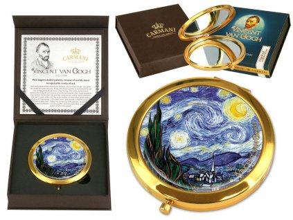 Carmani Kosmetické zrcátko Vincent van Gogh Hbězdná noc