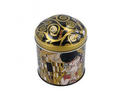 Plechová dóza na kávu a sypaný čaj Gustav Klimt Polibek