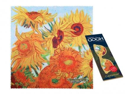 Utěrka na brýle Vincent van Gogh Slunečnice