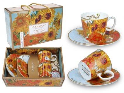Sada 2 šálků s podšálky na espresso V. van Gogh, Slunečnice
