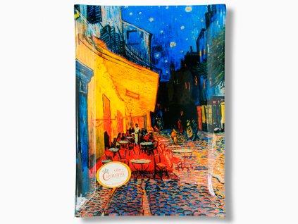 Skleněný talíř V. van Gogh Terasa kavárny