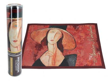 Prostírání A. Modigliani, A. Modigliani, Woman in a hat