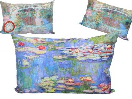 Polštář Claude Monet LEKNÍNY