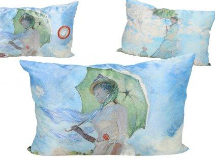 Polštář Claude Monet Dáma s deštníkem