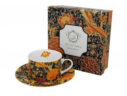 Porcelánový šálek s podšálkem, dekor CRAY FLORAL William Morris v dárkové krabičce 240 ml