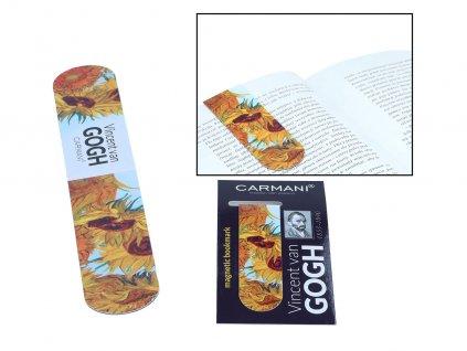 Magnetická záložka do knihy V. van Gogh, Sunflowers
