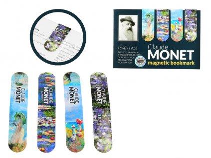 Sada 4 magnetických záložek C. Monet