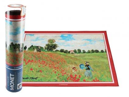 Prostírání C. Monet, pole Vlčí mák