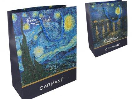 Dárková taška V. van Gogh, kavárna v noci na terase, hvězdná noc