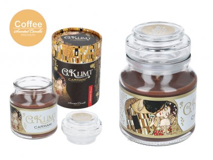 Vonná americká svíčka ve skle G. Klimt Coffee 335 g.