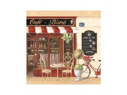 Dezertní třívrstvé ubrousky CAFÉ BISTRO, 20 ks