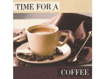 Dezertní třívrstvé ubrousky Time for a coffee, 20 ks