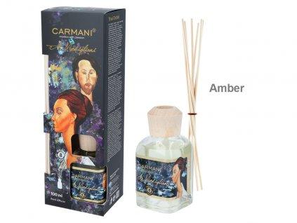 Carmani Designový difuzér A. Modigliani, Amber 100 ml..