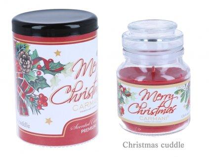 Vonná americká vánoční svíčka ve skle s vůní Vánoc 335 g