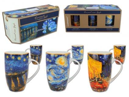 Sada 3 hrnků V. Van Gogh v dárkovém balení...