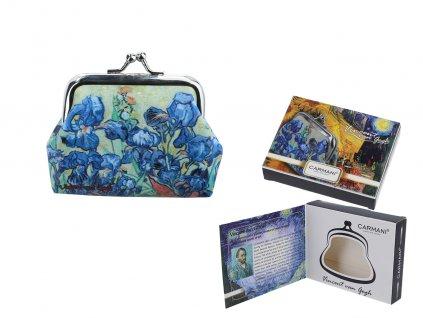 Malá peněženka V. van Gogh, Irises v dárkové krabičce