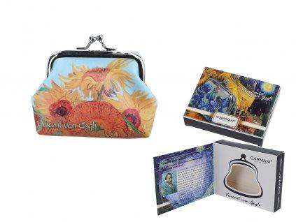 Malá peněženka V. van Gogh, Sunflowers v dárkové krabičce