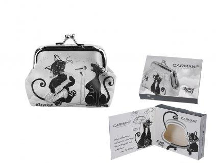 Malá peněženka Bláznivé kočky, kočičí muzikanti v dárkové krabičce