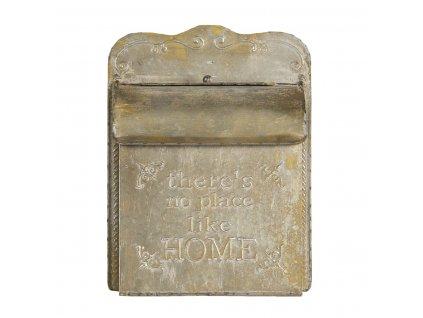 Clayre & Eef - Kovová poštovní  schránka Home s patinou v retro stylu - 25*12*35 cm