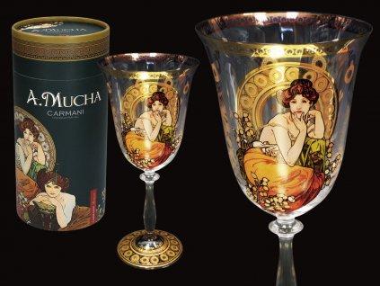 Sklenice na víno A. Mucha Drahokamy, Topaz v dárkovém balení 350 ml
