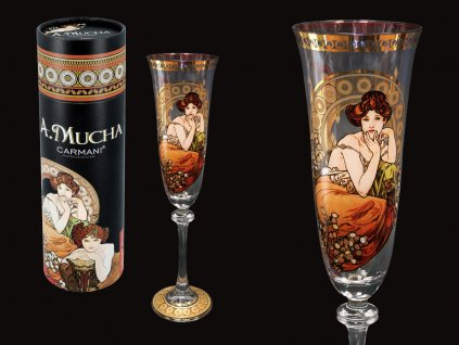Carmani - Sklenice na víno  A. Mucha Drahokamy, Topaz v dárkovém balení - 190 ml