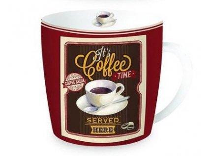 Porcelánový hrnek v plechové dóze HAPPY LIFE Coffe
