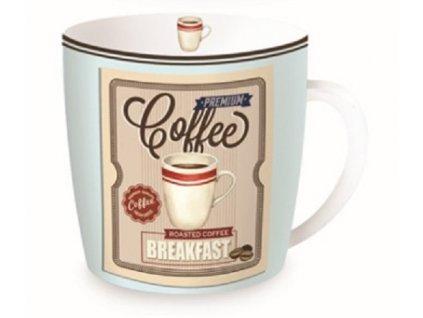 Porcelánový hrnek v plechové dóze HAPPY LIFE Coffe, Breakfast