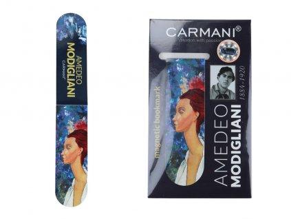 Magnetická záložka A. Modigliani, žena v klobouku