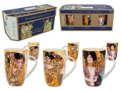 Sada 3 hrnků G. Klimt, The Kiss, Adele, Judith v dárkovém balení balení