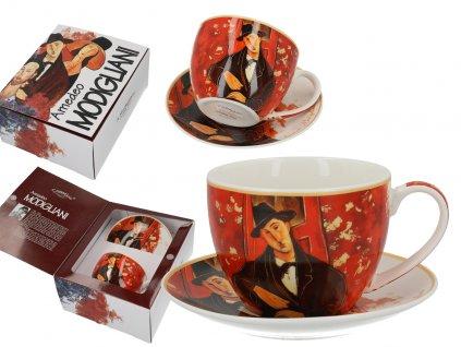 Šálek s podšálkem A. Modigliani, Mario Varvogli