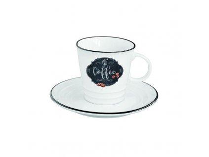 Porcelánový šálek s podšálkem z kolekce KITCHEN BASICS