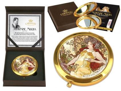 Carmani Kosmetické zrcátko Alfons Mucha PODZIM 7 cm
