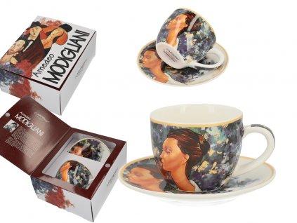 Šálek s podšálkem na espresso A. Modigliani, Lunia Czechowska v dárkovém balení