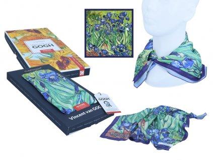 Šátek V. van Gogh, Irises v dárkovém balení