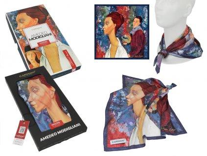 Šátek A. Modigliani, Lunia Czechowska and Amedeo Modigliani v dárkovém balení