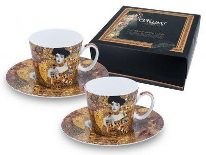 Porcelánové šálky s podšálkem G. Klimt, Adela na espresso v dárkové krabičce.