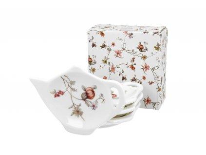Sada porcelánových podčajníků, dekor SAFA 4 ks