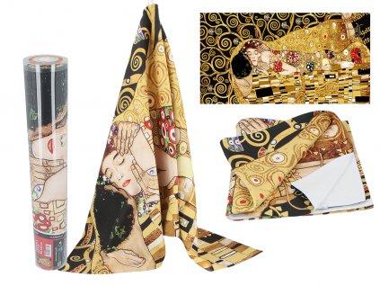 Ručník G. Klimt, G. Klimt, The Kiss v dárkové krabičce